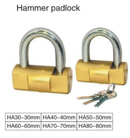 Chrome Plated High Security Keyed Padlock 2 Steel Keys Solid Steel Body