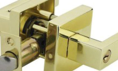 China Reliable Door Handle Safety Lock Polished Brass Zine Aolly Material supplier