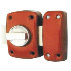 China Painting Finish Iron Security Rim Lock For Home Entrance With Custom Color supplier