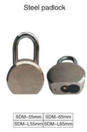 China Round Stainless Steel Padlock High Security With 5 Pin Tumber Cylinder distributor