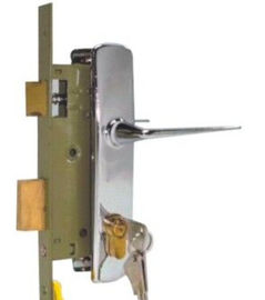 China Home Security Front Door Mortise Lock Brass Cylinder Stainless Steel Color distributor
