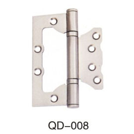 China Flush Metal Butterfly Spring Iron Door Hinges 180 Degree White Color For Glass Door distributor