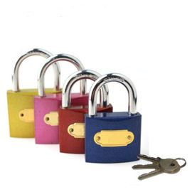 China Color Painting Aluminum High Security Padlock For Industrial Door factory