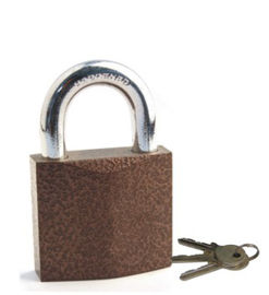 China Rhombic Brown Iron High Security Padlock Customized Logo For Luggage factory