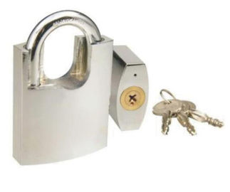 China Heavy Weight Iron High Security Padlock With Three Cross Key White Color factory