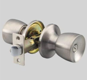 China Office Round Stainless Steel Door Knobs Easy To Install White Color distributor