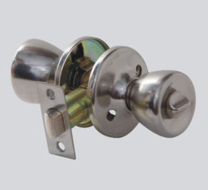 China Sliver Door Hardware Key Lock Door Knob Electroplating Surface Treatment factory
