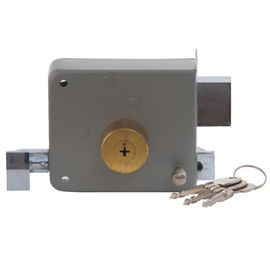 China Outer Door Rim Latch Door Lock With 3 Pcs Cross Key Cylinder OEM Iso9001 factory