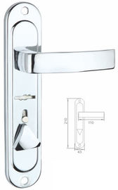 China Door Handle With Wide Panel And Surface Chrome Plating For Door factory
