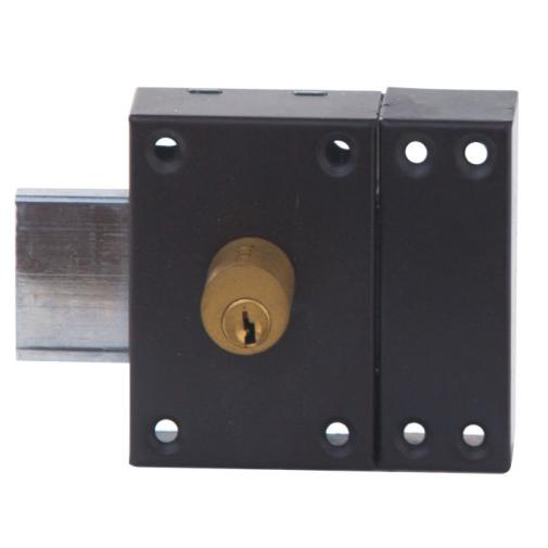 Painting Finish Iron Security Rim Lock For Home Entrance With Custom Color